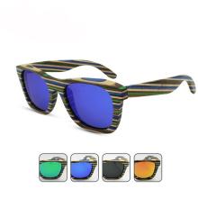Las gafas de sol de ciclismo del hombre polarizado madera de la exportación de la fábrica de la marca de fábrica FQ