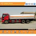 FAW 6x4 Aluminium Fuel Tanker Truck Capacity 22CBM