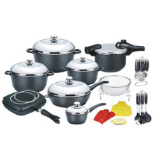 24PCS Die Casting China Cookware Set