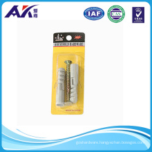 Plastic Anchor & Chipboard Screw Set (2PCS of each in one pack)