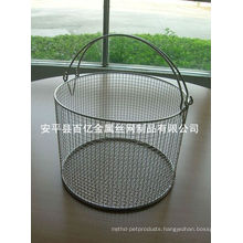 Electric galvanized wire mesh basket