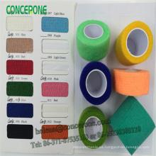 Vendaje elástico colorido no tejido médico