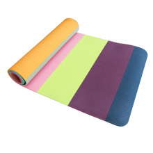8mm wholesale Logo Availabled Stitching tpe yoga mat with carry strap