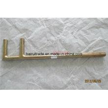 Ferramenta de segurança flexível não acendendo a chave de forma F, chave de válvula