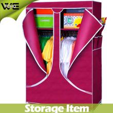 Le stockage habille les meubles modernes de maison de garde-robe de tissu pliable de Cabinet