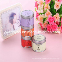 Romantic Decorative Scented Soy Party Candle in Tin