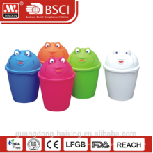 HaiXing рекламных пластиковые лягушка картина мусорное ведро 6 Л