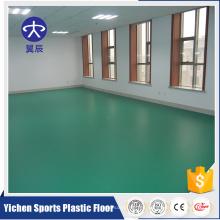 piso de PVC verde de la oficina del PVC 3.5mm del modelo del litchi