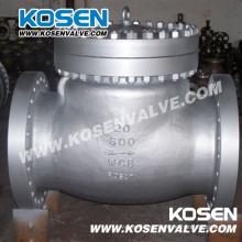 Válvulas de retención de columpio de acero API Cast (H44)
