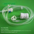Set de infusión intravenosa desechable con aguja de mariposa