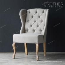 Fábrica barata de madera y tela utilizada marco banquete silla de hotel