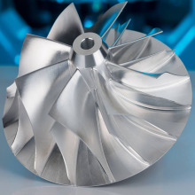 Custom 5-axis CNC Milling 7075 Aluminium Impeller