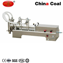 Double Heads Soft Drinking Piston Liquid Filling Machine