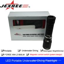 JEXREE Portable Rechargeable LED Diving Light lampe torche rechargeable