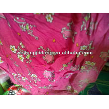 Rayon printed stock fabric