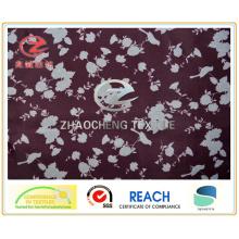 Tissu de vêtement d'impression de fleurs en polyéthylène 210t