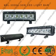 Hot Sale! ! 10inch LED off Road Light Bar, 12V DC 6PCS*5W LED off Road Light Bar