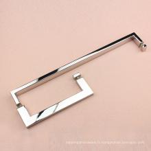 Porte en verre et en bois brossé poignée en acier inoxydable bouton poignée de tirage