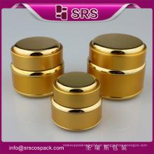 Embalagens de alumínio acrílico de luxo embalagens de cosméticos, frasco de alumínio para o soro e impressão frasco de cosméticos