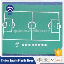 Piso de los deportes del PVC piso del futsal / de los balones de fútbol piso interior precio del piso de pvc