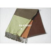 Army Green Woven Silk Scarf Warm And Elegant 30 * 165cm