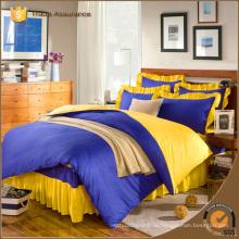 2015 новейших горячих продаже Дешевый подарок сплошной цвет постельные принадлежности простыни установить