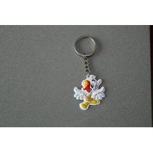 Accesorio de la llave del PVC de la forma del pato del llavero encantador de encargo (GZHY-YSK-0023)