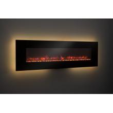 Réchauffeur de cheminée en verre noir classique 110-120V