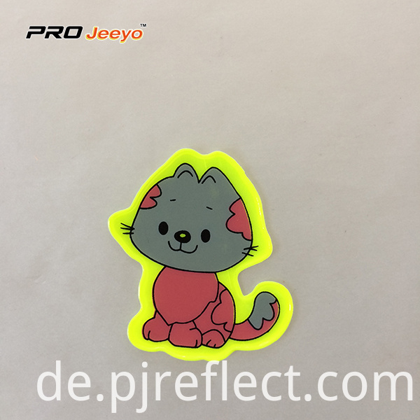 Reflective Adhesive Pvc Cat Shape Stickers For Children Rs Dw008