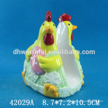 Popular easter gift ceramic napkin holder in cock shape