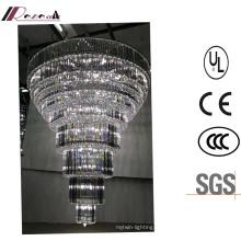 Lustre en cristal de LED de lustre à plusieurs niveaux de lobby de haute qualité d'hôtel