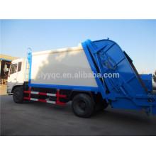 Dongfeng 10 metros cúbicos compactador camión de basura, 10000Liter camión de basura hecho en china