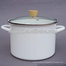 Esmalte branco alta sopa & estoque potes esmalte branco alta sopa & estoque potes