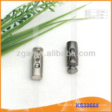 Metal cord stopper or toggle for garments,handbags and shoes KS3066#