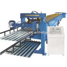 Laminado de piso de acero roll formando máquina