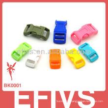 Paracord bracelet colored plastic side release buckle