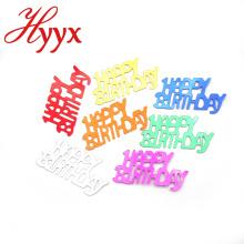 HYYX decorativos 2018 nuevos proveedores de China sueltan lentejuelas de cumpleaños feliz barato