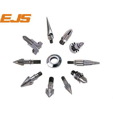 hard screw accessory assembly for injection molding machine