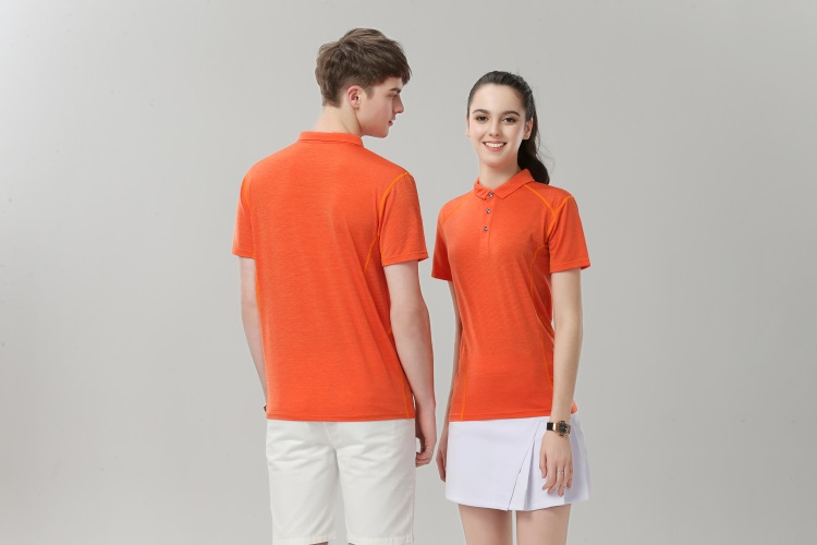 Orange collar shirt