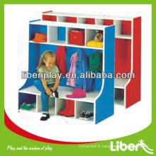 Cabinet de jouet en bois pour enfants respectueux de l'environnement avec faible prix LE.OT.058