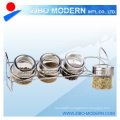 Glass Condiment Set Condiment Set with Metal Rack Best Selling