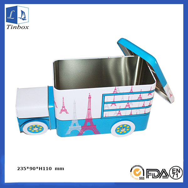Forma do carro Gift Cash Tin Box