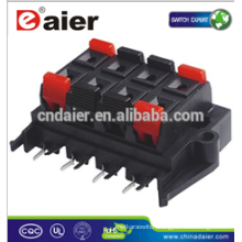 audio speaker connector types; electrical wire push in connectors;push button speaker terminals