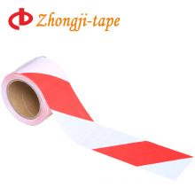 7.5cm red and white pe warning tape