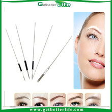 2015 getbetterlife S.S eyebrow tattoo needles 0.4mm*49mm for permanent makeup
