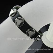 Hot venda pulseiras de couro genuíno com charme BGL-037