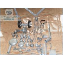 fer forgé ou pièces de clôture en aluminium