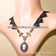 Tête de beauté pendentif collier de mariée LS-60