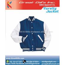 Benutzerdefinierte Teenager Plain Sports Varsity Jacke Baumwolle Material Jacke
