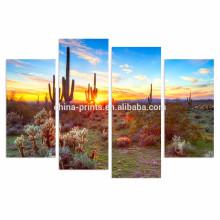 Desierto de América del Norte Pintura de Paisajes / Botánica Cactus Imagen de lienzo / Decoración de pared